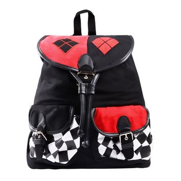 Suicide Squad Backpack Comics Harley Quinn Unisex Knapsack Backpacks Travel Satchel School Shoulder Bag Daypacks