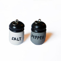 Salt and Pepper Charms - Food Charm - Polymer Clay Charm - Friendship Charms - Polymer Clay Food - Kawaii Charm - BFF Charms