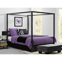 Walmart: Modern Canopy Queen Metal Bed, Gunmetal Grey