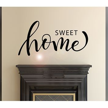 Vinyl Wall Decal Sweet Home Letter House Idea Decor Stickers Mural 28.5 in x 14 in gz039