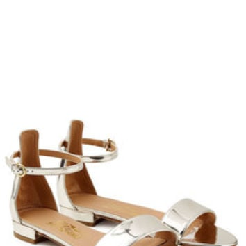 Metallic Leather Sandals - Salvatore Ferragamo | WOMEN | US STYLEBOP.COM