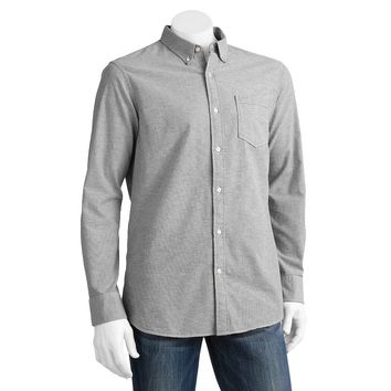 SONOMA life + style Solid Oxford Button-Down Shirt -Big &