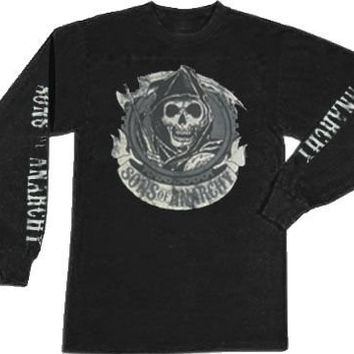 Sons of Anarchy Redwood Original Long Sleeve Black Adult T-shirt  - Sons of Anarchy - | TV Store Online