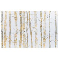 "24"" x 36"" Cream & Gold Birch Trees Canvas Art 