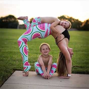 Watermelon Printed Mother/Daughter Yoga Pants