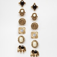 New Look Amazonian Elephant Multipack Earrings