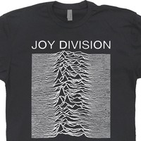 Joy Division T Shirt Vintage Band T Shirts Unknown Pleasures Graphic