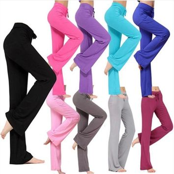 Women Sports Pants Latin Dance Trousers Modal Ladies Girls Fitness Exercise Running Practise Soft Sweatpants Loose Joggers