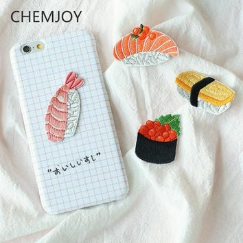 Japan Sushi Embroidered Patch Stick on for Clothing Cute Speical Applique T-shirts Jeans Biker Patch Shoes Bags Sticker Badge
