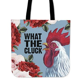What The Cluck Linen Tote Bag