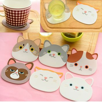 Non-slip Silicone Cute Table Coffee Cup Mug Pad Placemat Heat Resistant Mat Kitchen Tool