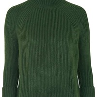 Boxy Cropped Sweater - Topshop