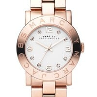 Women's MARC BY MARC JACOBS 'Amy' Crystal Bracelet Watch