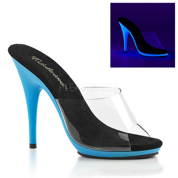 5 Inch Slides UV Reactive Bottom-Stripper Shoes