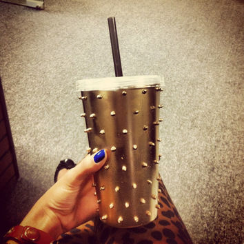 Metallic Gold Studded Togo Cup