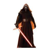 Kylo Ren Lightsaber Down Force Awakens Cardboard Standup
