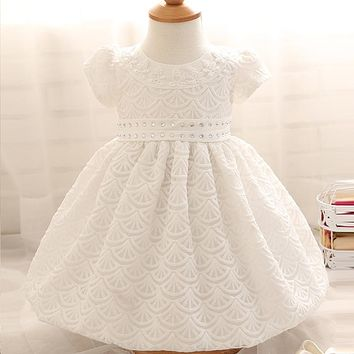 Baby Girl Dress 1 Year Girl Baby Birthday Dress Newborn White Christening Gown Baby Girl Beaded Bow Wedding Dress Baptism Dress