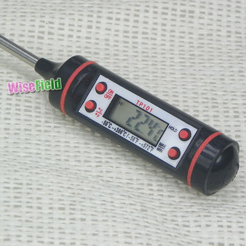 Digital LCD Cooking Food Probe Meat Kitchen BBQ Selectable Sensor Thermometer