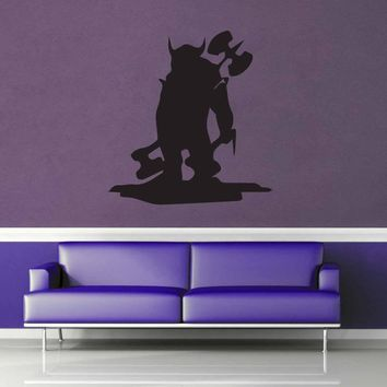 Barbarian Ogre Silhouette - Wall Decal$8.95