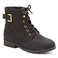Girl's Gianna-918 Military Style Lace-Up Combat Boots