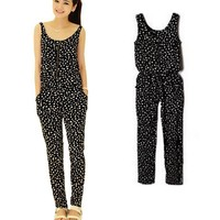 Dot Print Bodysuit Jumpsuit Elegant Rompers Womens Jumpsuit Enteritos Mujer Sleeveless Women Overalls Bodycon Jumpsuit Rompers
