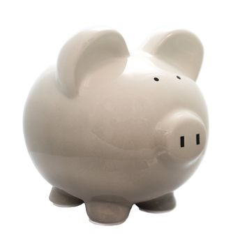 Bank GRAY OMBRE PIGGY BANK Ceramic Money Save Baby 3707Gy