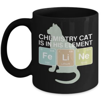 Chemistry Cat Is In His Element Mug