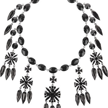 Givenchy - Necklace in gunmetal-tone and crystal