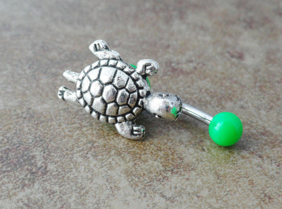 Green Turtle Belly Button Ring Jewelry by from ...