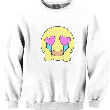 Printed Smile Face Funny Sweatshirt