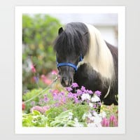 Echo and Flowers Art Print by Veronica Ventress