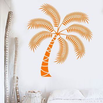 Vinyl Wall Decal Palm Tropical Tree Beach Style Decoration Interior Stickers Unique Gift (ig3831)