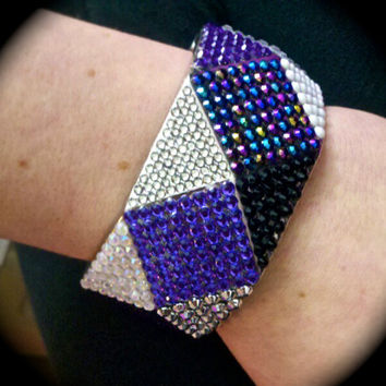 PURPLE Diamonds Bangle