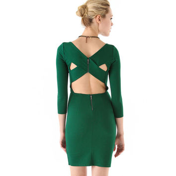 Strappy Cutout Back Bodycon Midi dress