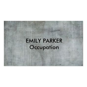 Charcoal Blue Distressed Professional Business Card