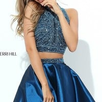 Sleeveless Sherri Hill Two Piece Homecoming Dress