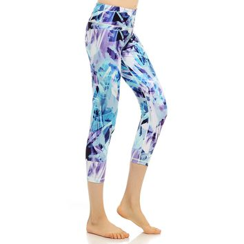 Women's Yoga Pants Slimming Fitness Leggings Printed Hidden Pocket High Waist Push Up Plus Size Active Yoga Capris New