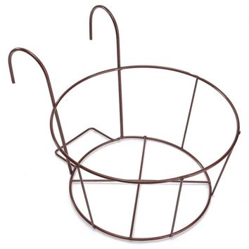 HOT-Metal Iron Flower Pot Hanging Balcony Garden Plant Planter Home Decor basket