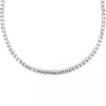 3mm Tennis Necklace with Swarovski Crystals in 18K White Gold Plated