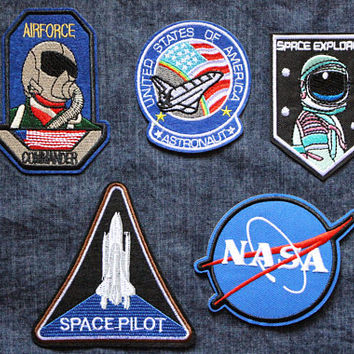 Astronaut Patch,Space Patch,Universe Patch,Planet Patch,Applique Embroidered Iron On Patch,Iron On Patch,Sew On Patch,Buy 2 Get 1 Free