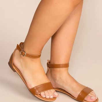Viola Tan Ankle Strap Sandals