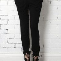 The Mill Ruched Pocket Pants - Black