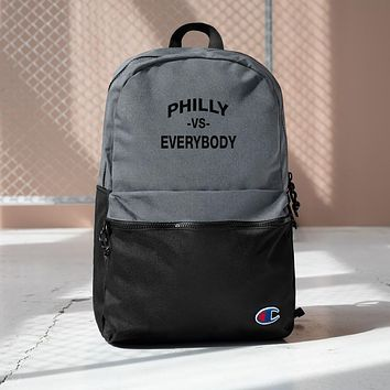 Philly vs. Everybody Embroidered Champion Collab Backpack