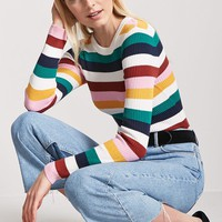 Ribbed Multicolor Stripe Sweater