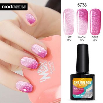 Beauty Temperature Color Changing UV Nail Soak-off UV Nail Gel Polish Lacquer
