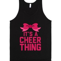 It's a Cheer Thing-Unisex Black Tank
