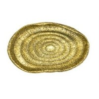 Dazzling Decorative Resin Tray, Gold