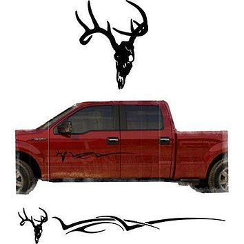 Hunting Deer Trailer Decals Truck Decal Side Set Vinyl Sticker Auto Decor Graphic Kit TT12