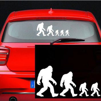 Bigfoot Family Stick Figure Decal Yeti Sasquatch Funny Sticker Car Truck 4x4 SUV Off Road