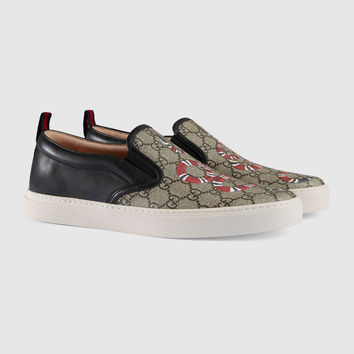 Gucci Kingsnake print GG Supreme slip-on sneaker